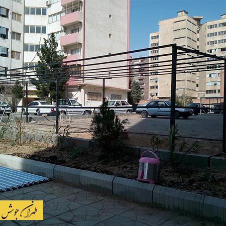 ساخت سایبان خودرو در حیاط