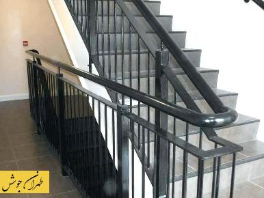 نرد راه پله فلزی ساده