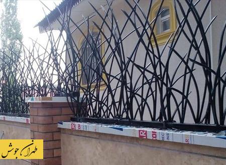 نرده حفاظ دیوار نیزار