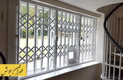 نرده حفاظ آکاردئونی پنجره